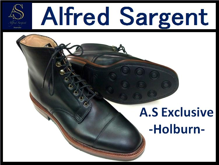 【ALFRED SARGENT/アルフレッドサージェント】<br>HOLBURN<br>BLACK WAXY CAP BOOT