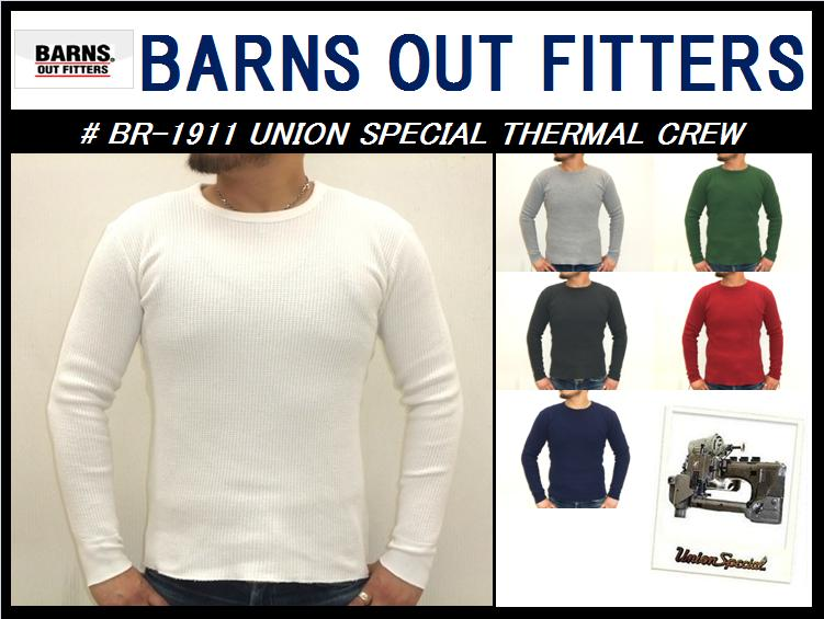 【バーンズ】<br>UNION SPECIAL THERMAL CREW<br>M size